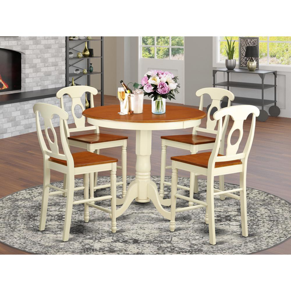 5  PC  counter  height  pub  set  -  Table  and  4  counter  height  stool.. Picture 1