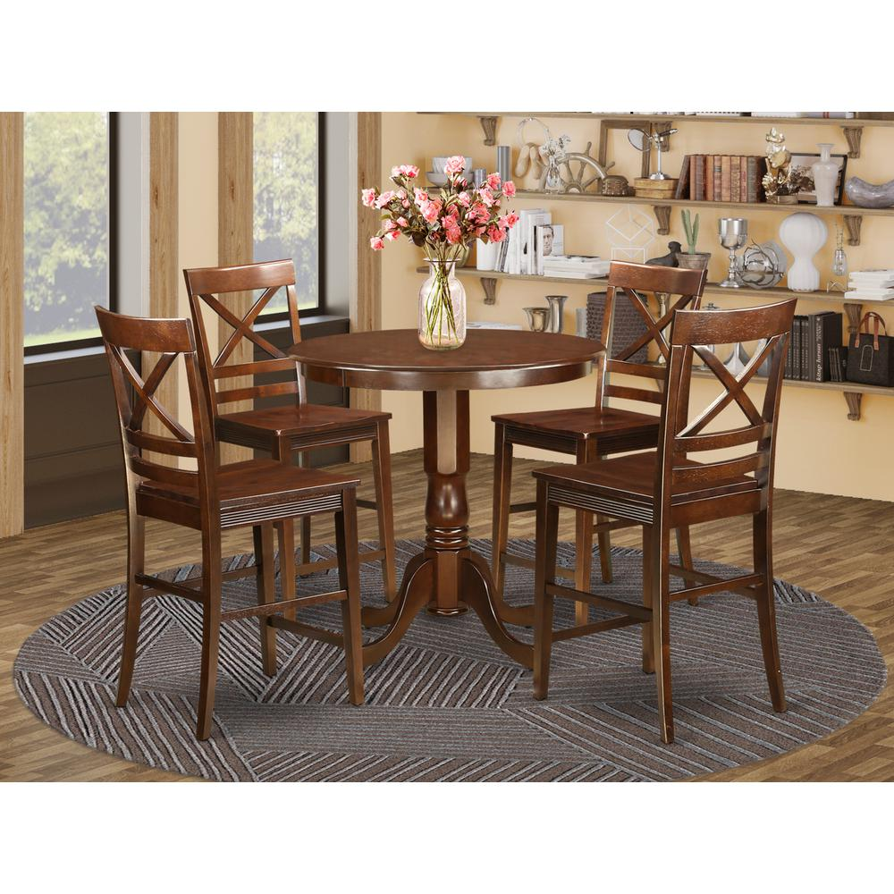 5 PC counter height Dining room set-pub Table and 4 Chairs. by East West Furniture