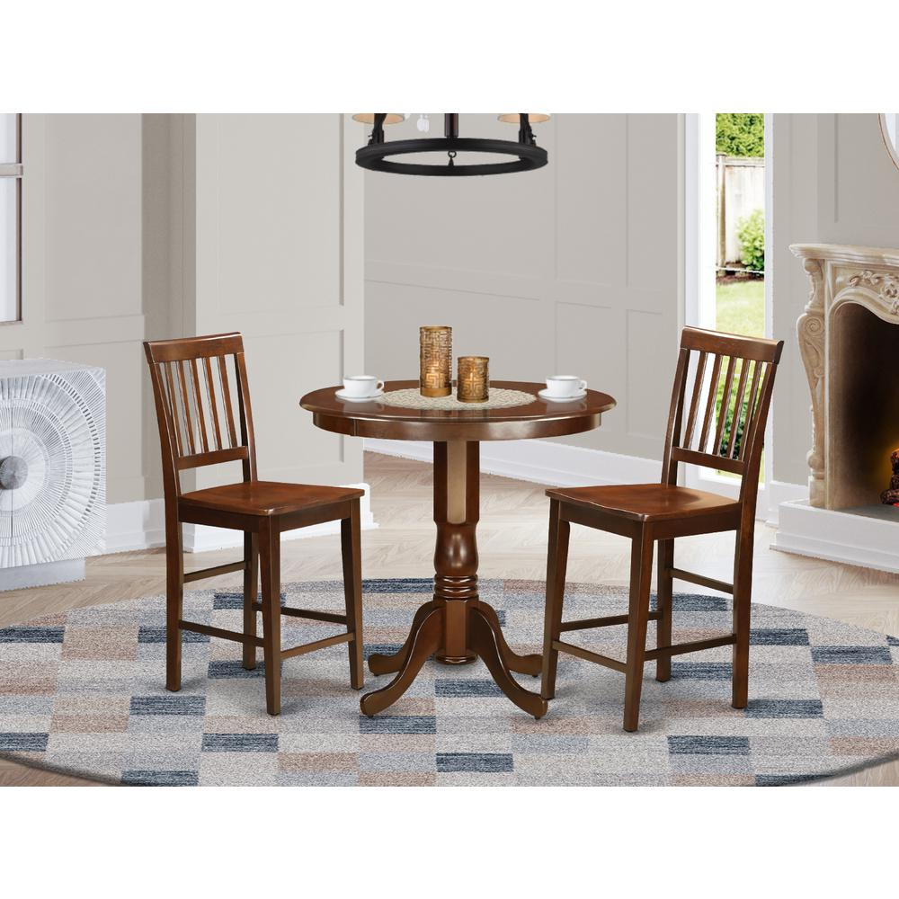 3 pc dining counter height set high top table and 2 for High top dinette sets