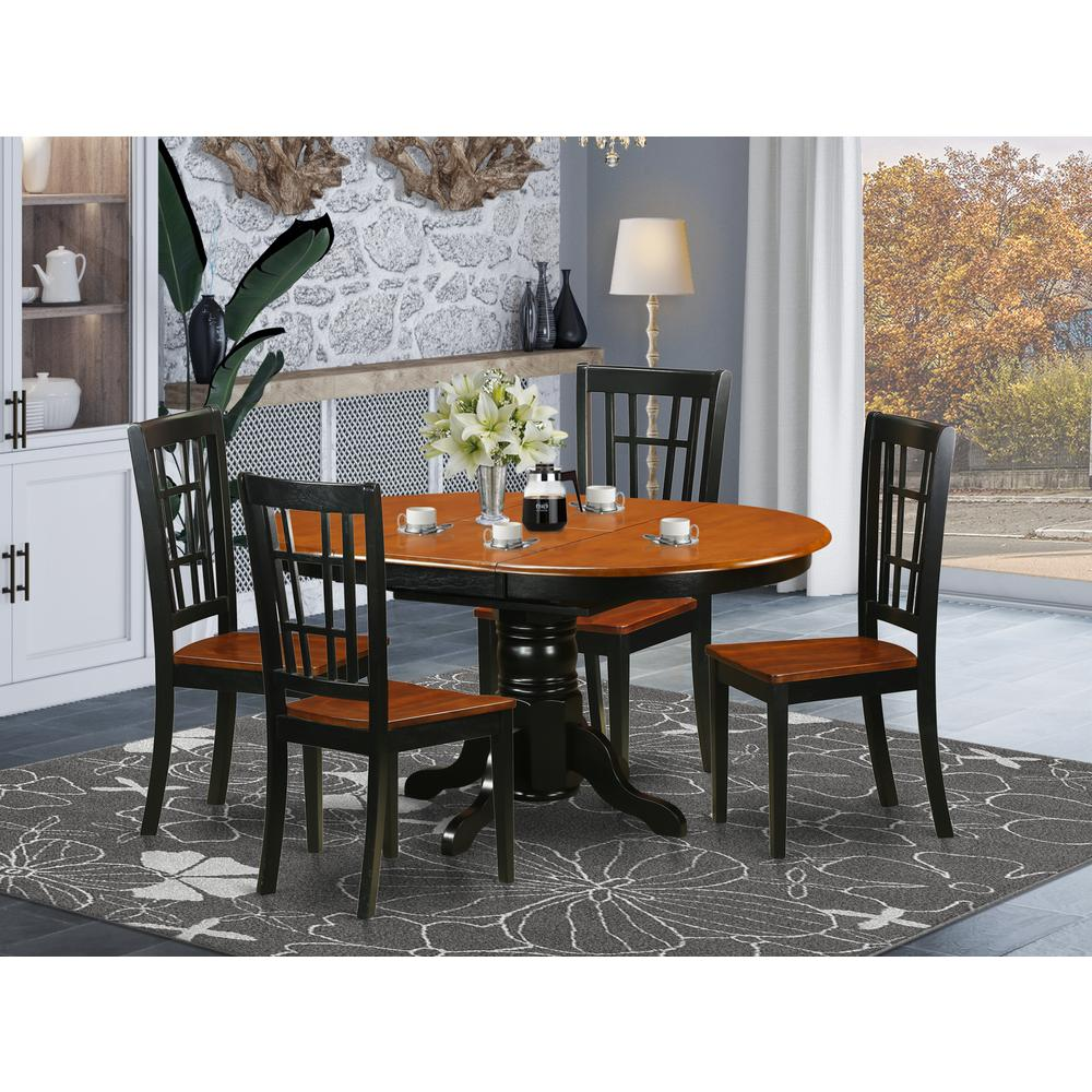 5 Pc Kitchen Table Set Dining Table And 4 Wooden Kitchen Chairs