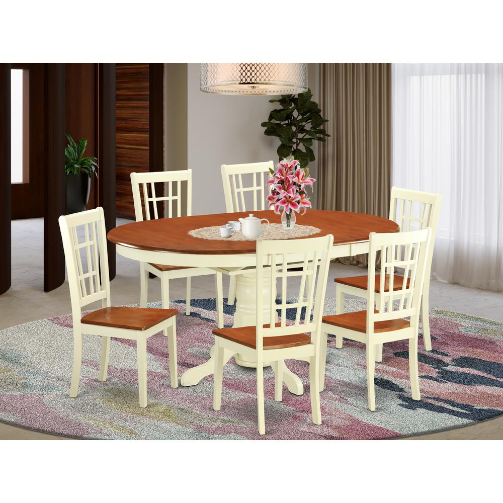 7 Pc Dining Room Sets: 7 PC Dining Room Set -Small Kitchen Table And 6 Dining Chairs