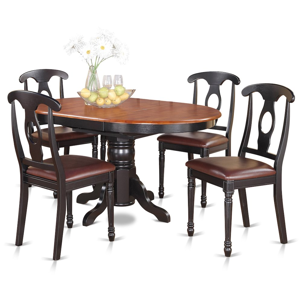5 Pc Dining Room Set For 4-Oval Dining Table And 4 Dining