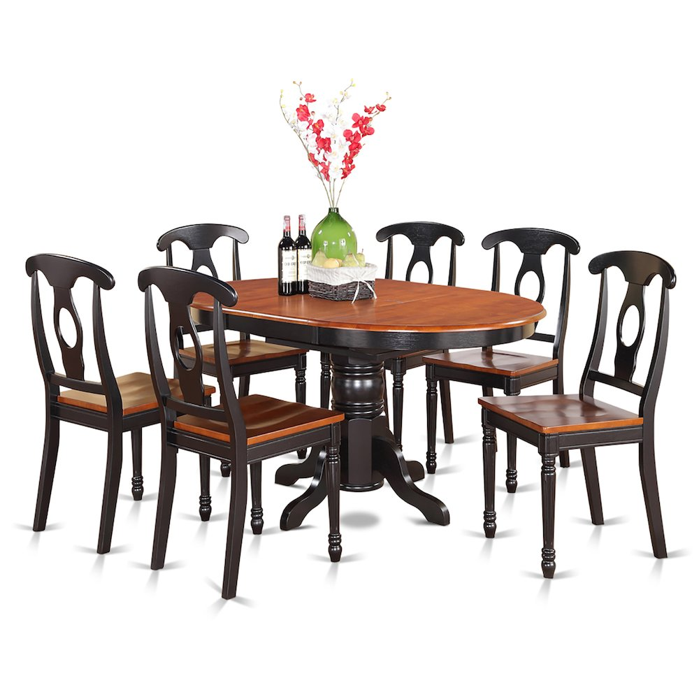7  Pc  Dining  room  set-Oval  Dining  Table  and  6  Dining  Chairs. Picture 1