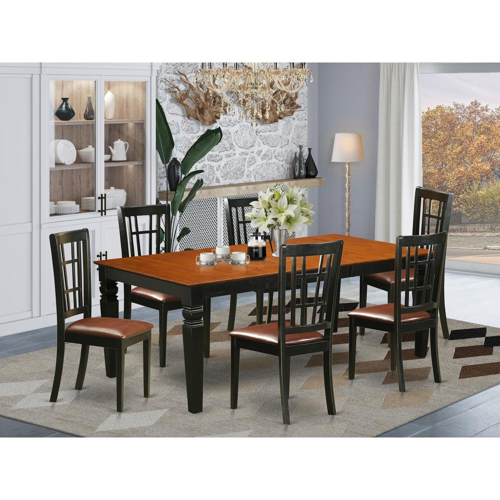 52 Kitchen Tables And Chairs Sets 7 Pc Dining Room: 7 PC Dining Room Set With A Table And 6 Kitchen Chairs In