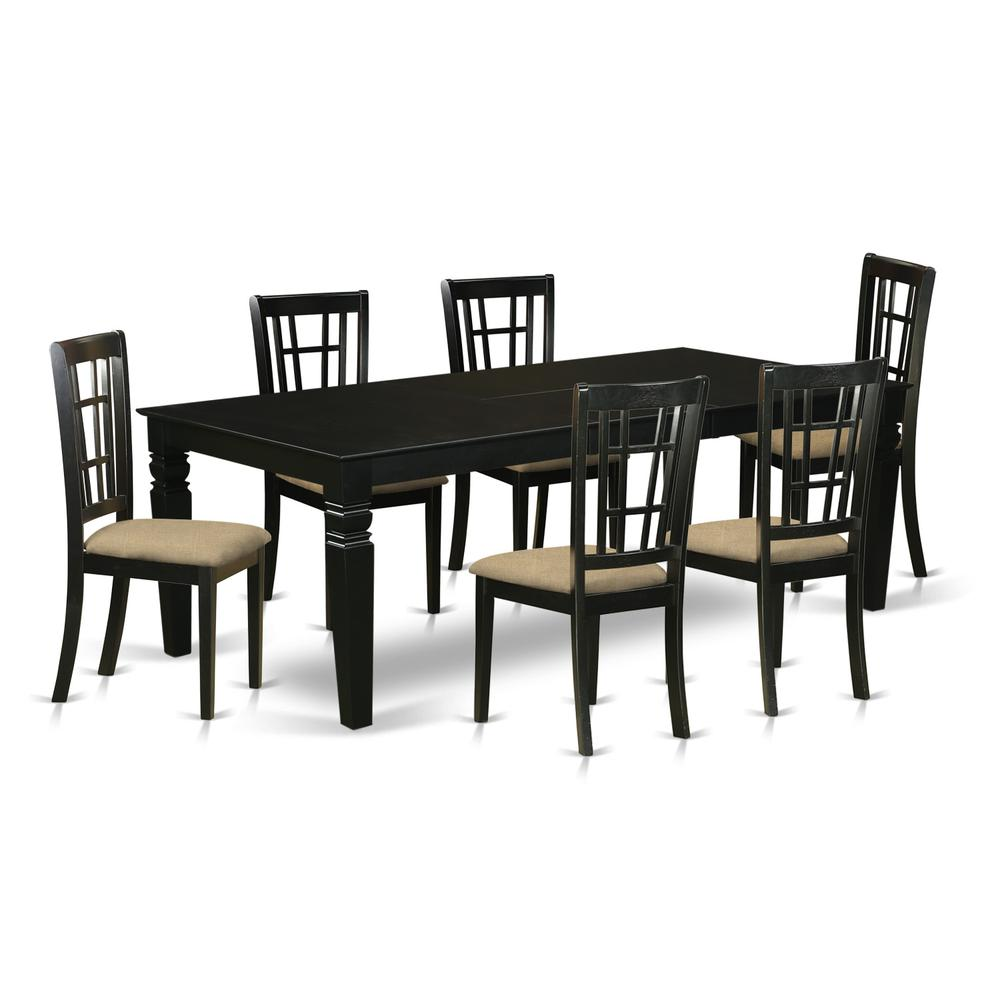7 Pc Dining Room Set With A Kitchen