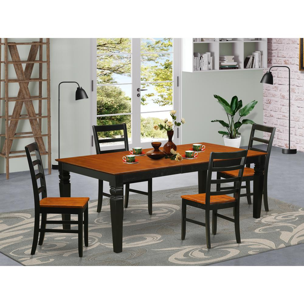 5  Pc  dinette  set  with  a  Dining  Table  and  4  Dining  Chairs  in  Black  and  Cherry. Picture 1