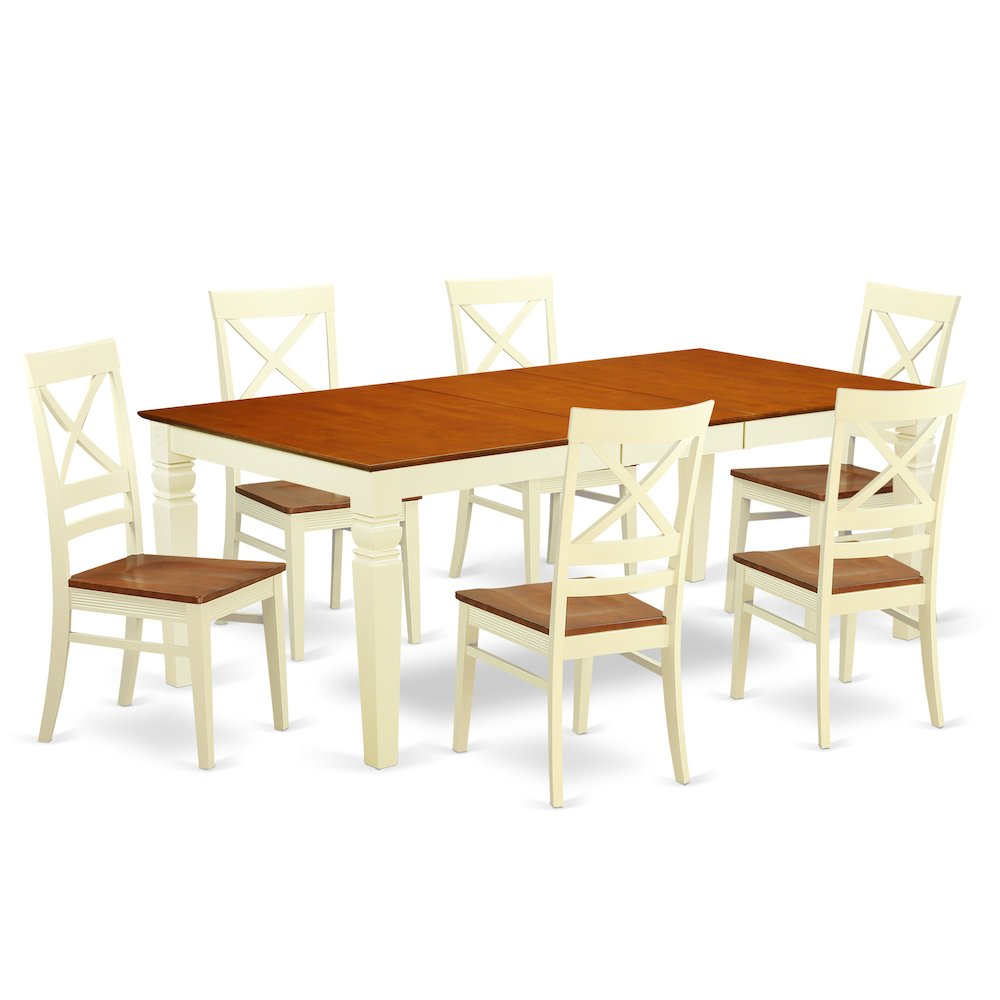52 Kitchen Tables And Chairs Sets 7 Pc Dining Room: 7 Pc Dining Room Set With A Dining Table And 6 Dining