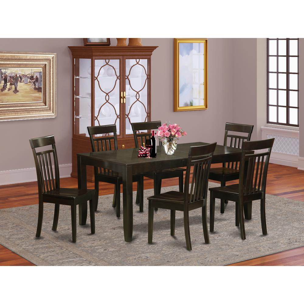 7  Pc  Dining  room  set-Kitchen  Tables  with  Leaf  and  6  Chairs  for  Dining  room. Picture 1