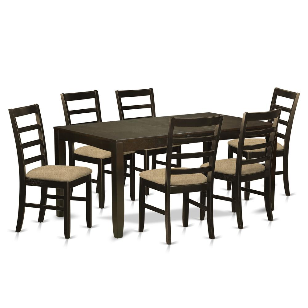7 Pc Dining Room Sets: 7 Pc Dining Room Set-Dining Table With Leaf And 6 Dining