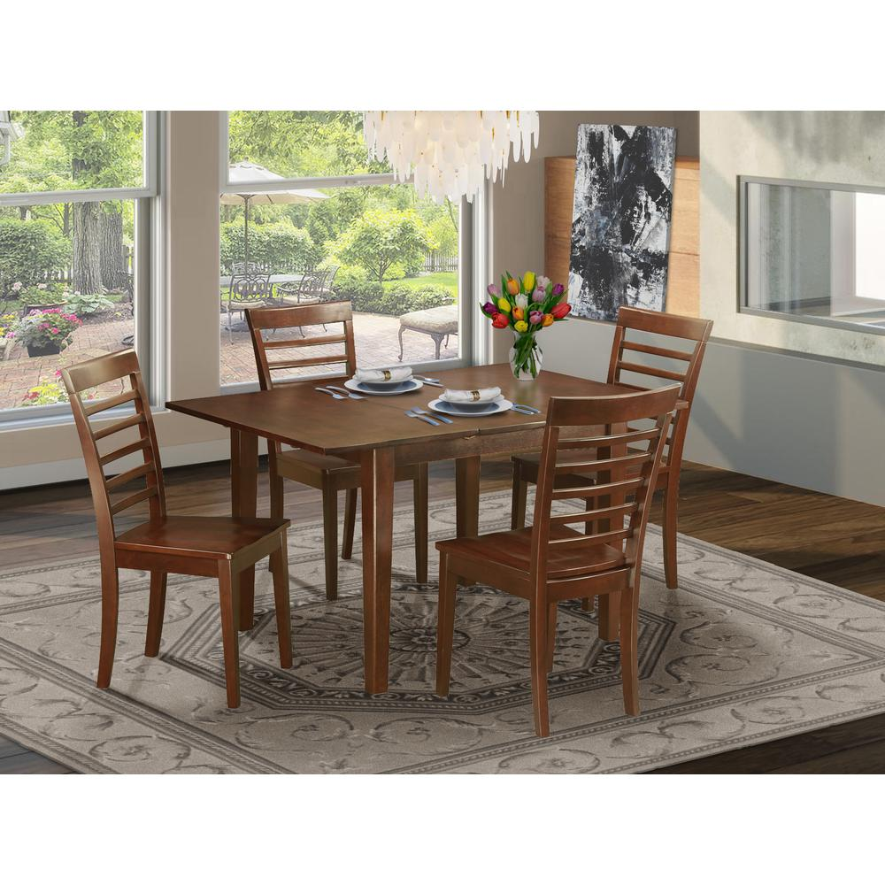 Small Wood Table And Chairs: 5 Pc Kitchen Dinette Set-small Table And 4 Kitchen Dining