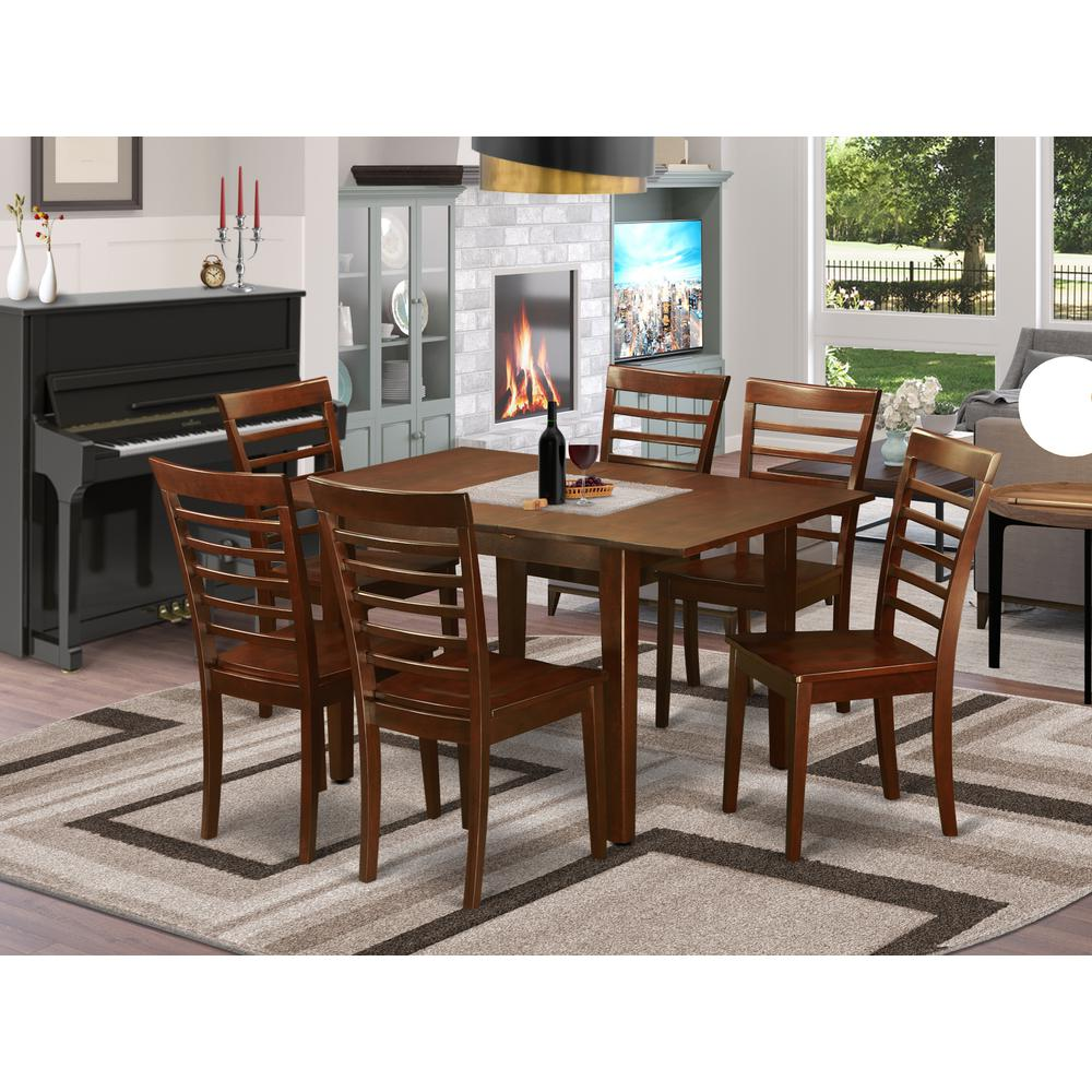 7 pc dinette set for small spaces kitchen table and 6 chairs for dining room. Black Bedroom Furniture Sets. Home Design Ideas