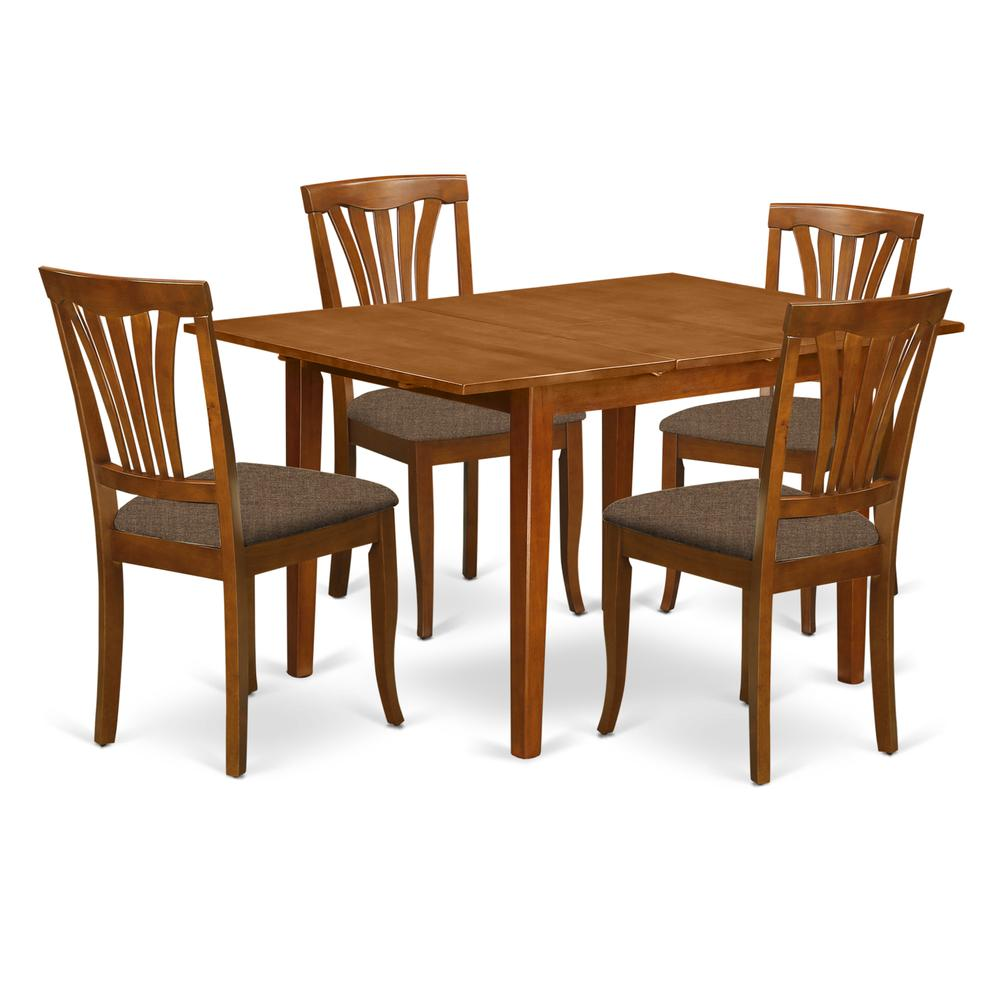 5pc Dining Table Set: 5 Pc Dinette Set For Small Spaces-Dining Tables And 4