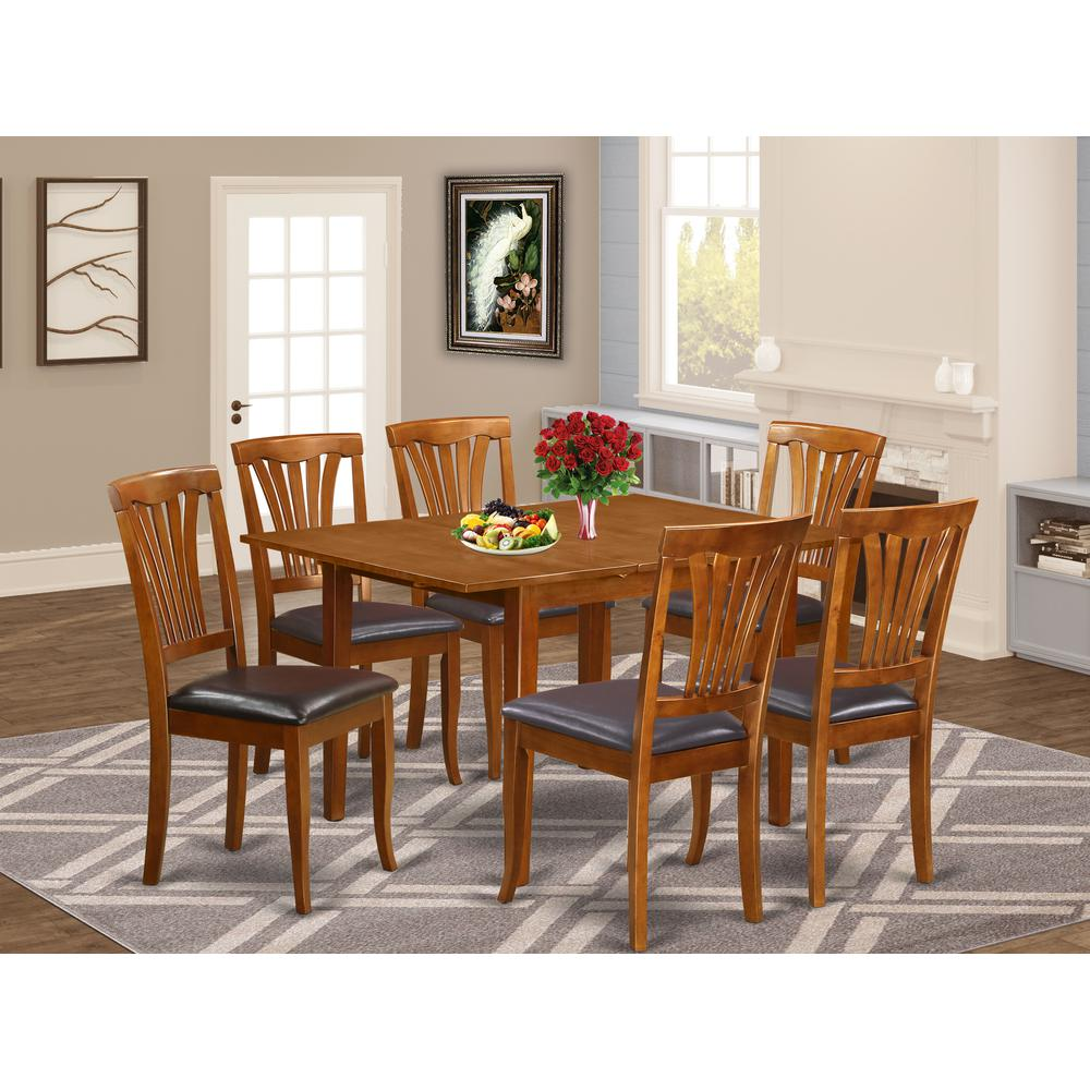 7  Pc  dinette  set  for  small  spaces-Kitchen  Tables  and  6  Dining  Chairs. Picture 1