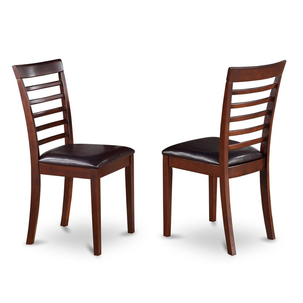 milan kitchen chair with faux leather seat mahogany. Black Bedroom Furniture Sets. Home Design Ideas
