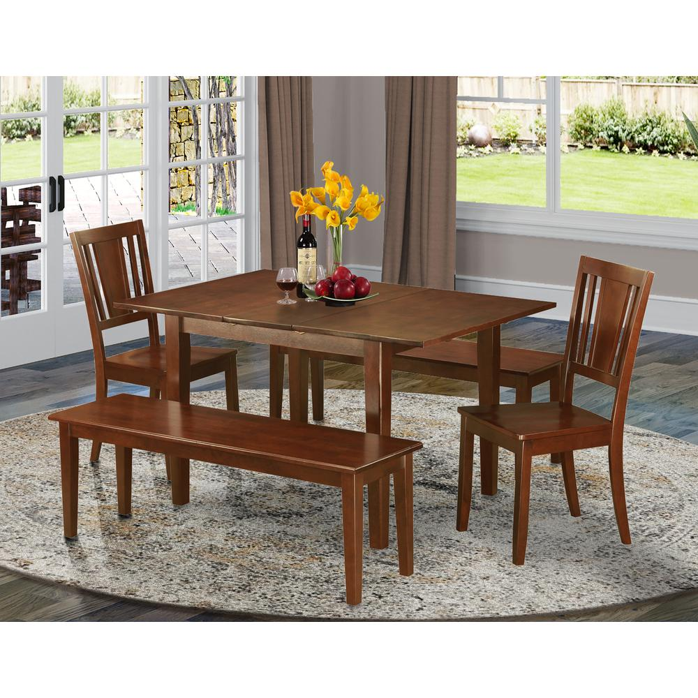 5 Pc Dinette Set For Small Spaces Tables 2 Dining Chairs And 2 Benches