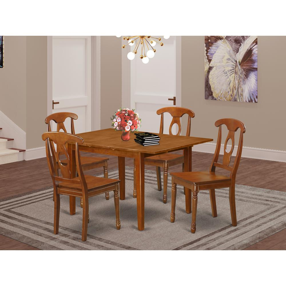 5 Pc small Kitchen Table set-Kitchen Table and 4 Kitchen Chairs