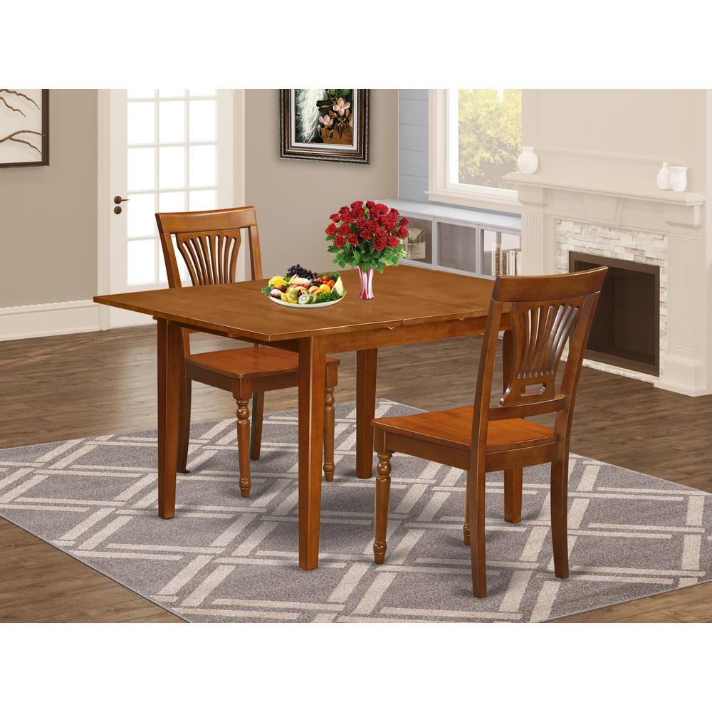 3 Pc Milan Kitchen Table Featuring Leaf And 2 Wood Dinette
