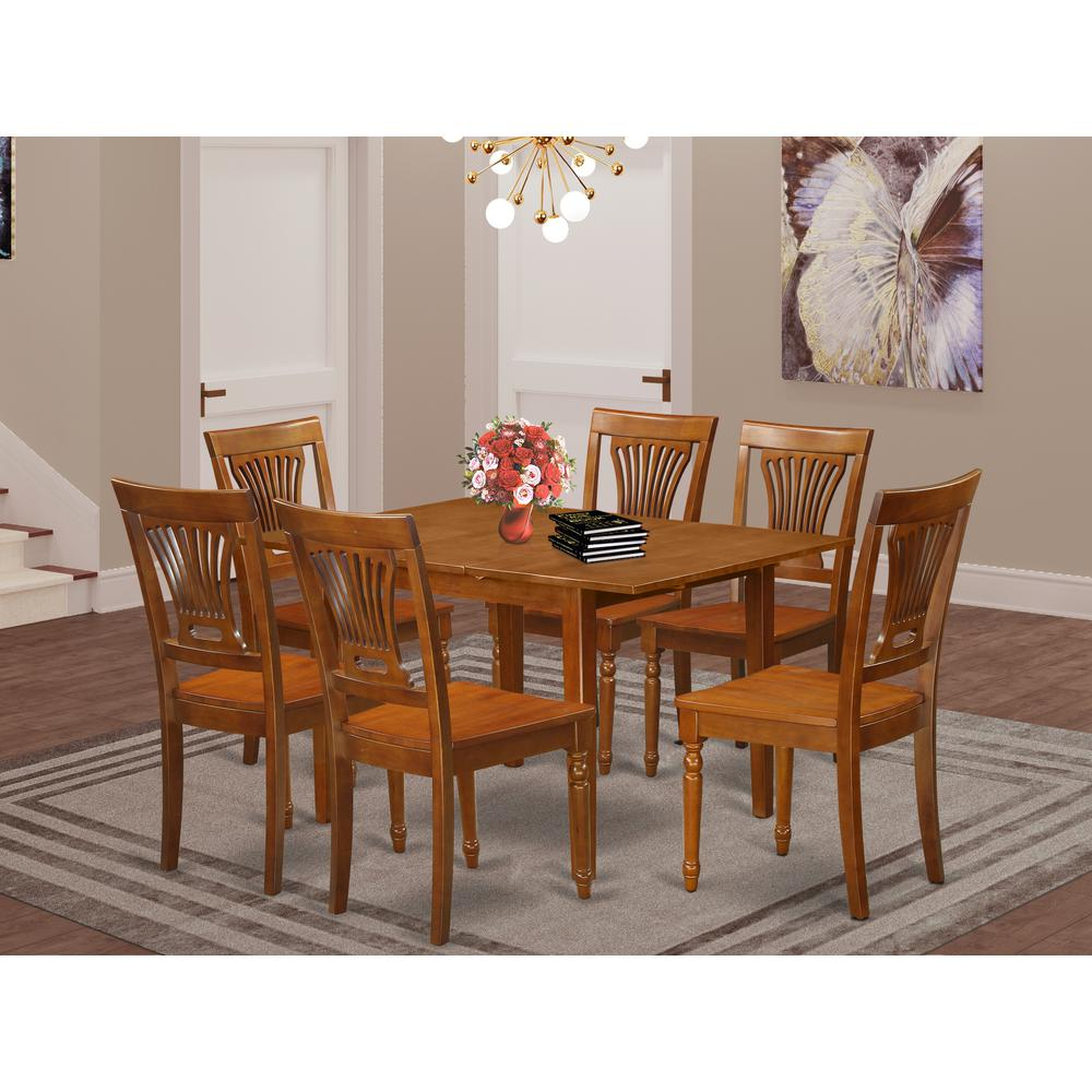 7 pc kitchen nook dining set kitchen table 6 chairs for for Kitchen table set 6 chairs
