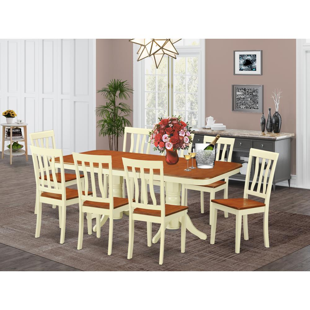 9  Pc  Dinette  set  for  8-  Dinette  Table  and  8  Dining  Chairs. Picture 1