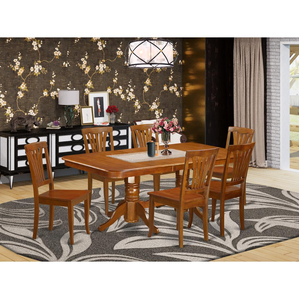 7  Pc  formal  Dining  room  set-Dining  Table  and  6  Kitchen  Dining  Chairs. Picture 1