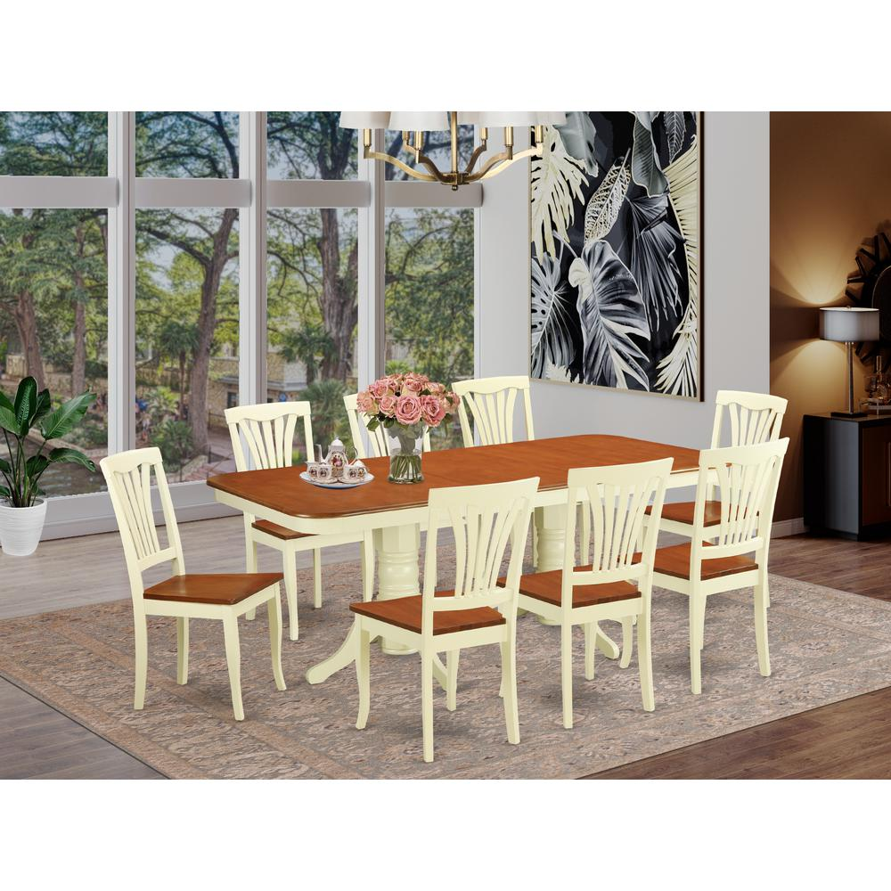 9  Pc  Dining  set-Table  with  Leaf  and  8  Chairs  for  Dining. Picture 1
