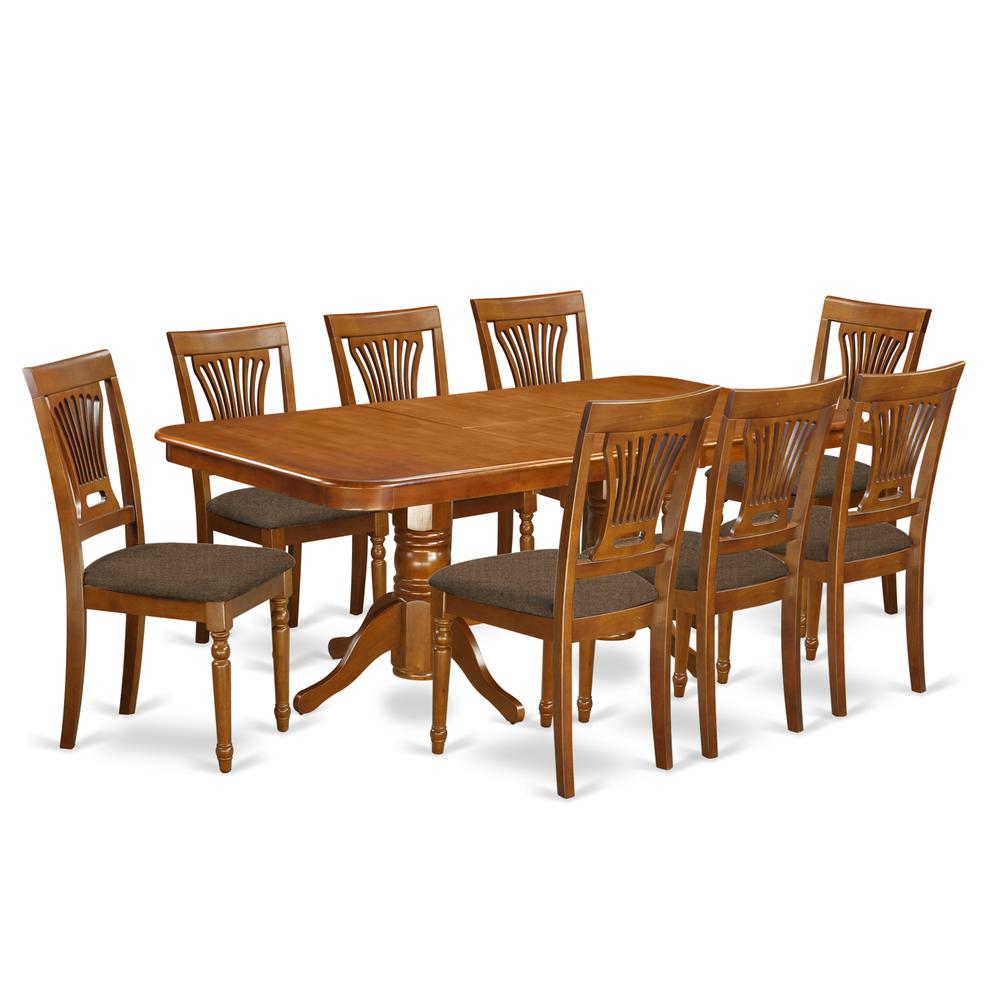 9 Piece Dining Table Set For 8 Dining Room Table With 8: 9 Pc Dining Room Set-Dining Table And 8 Dining Chairs