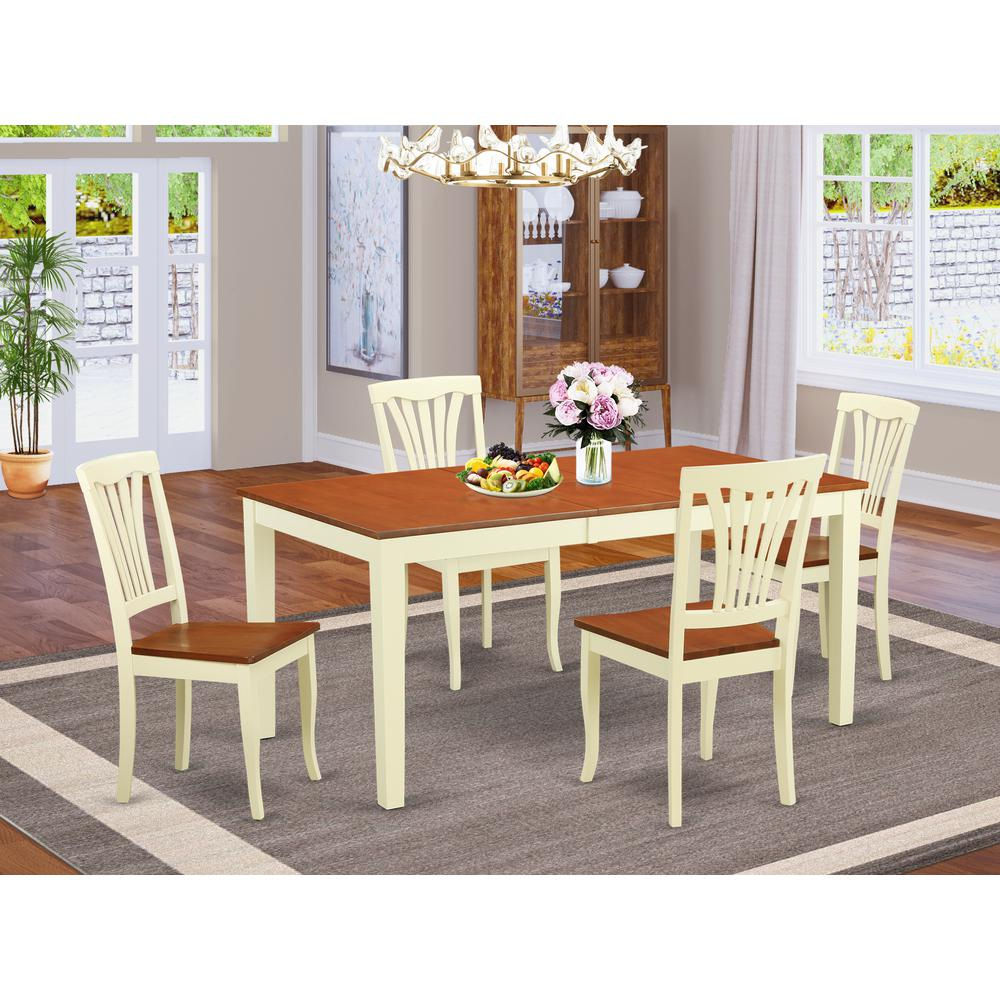 5  Pc  dinette  set  for  4-Dinette  Table  and  4  Kitchen  Dining  Chairs. Picture 1