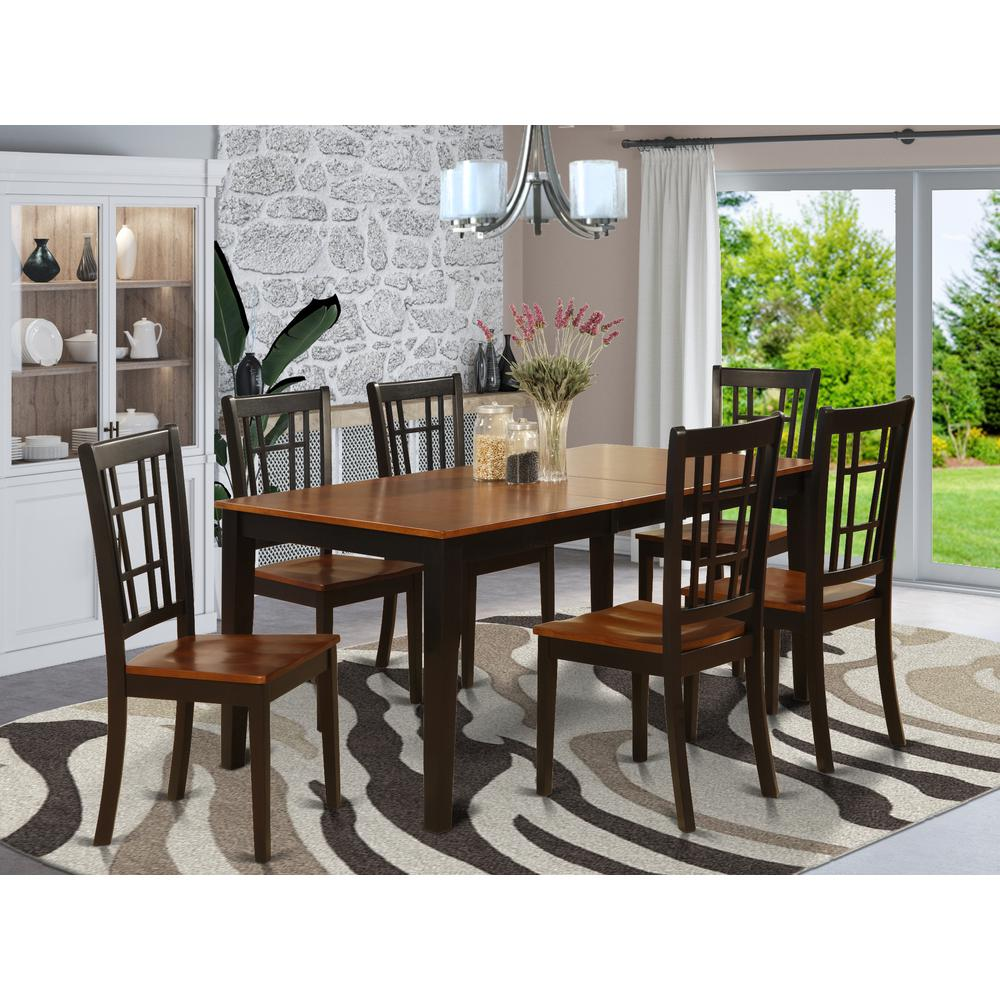 7 pc formal dining room set dining table and 6 chairs for for Formal dining room table and chairs