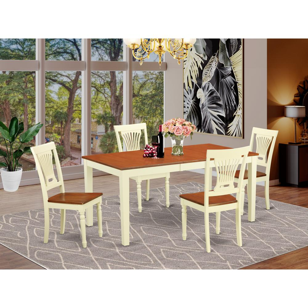 Modern 5pc Dining Table Set Kitchen Dinette Chairs: Kitchen Table And 4 Dining Chairs
