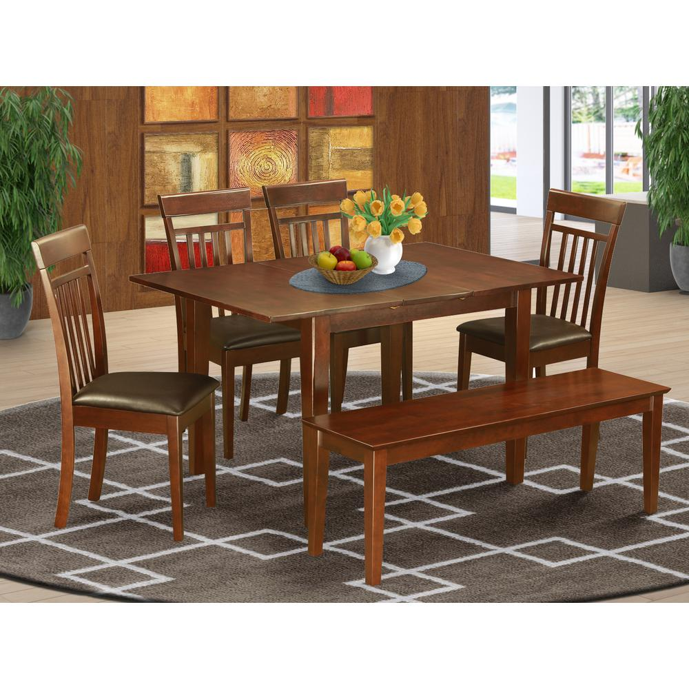 6 pc table and chairs set kitchen dinette table and 4 for Kitchen table set 6 chairs