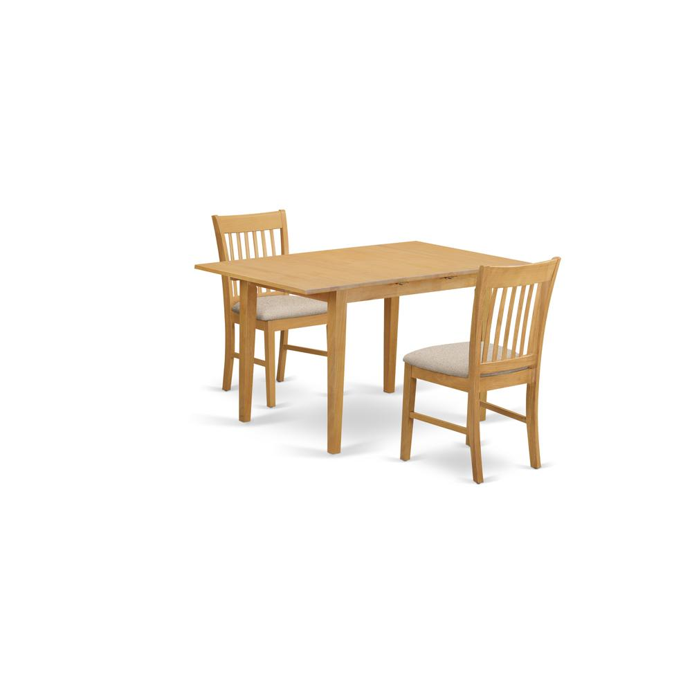 Kitchen Nook Table Sets: 3 Pc Kitchen Nook Dining Set