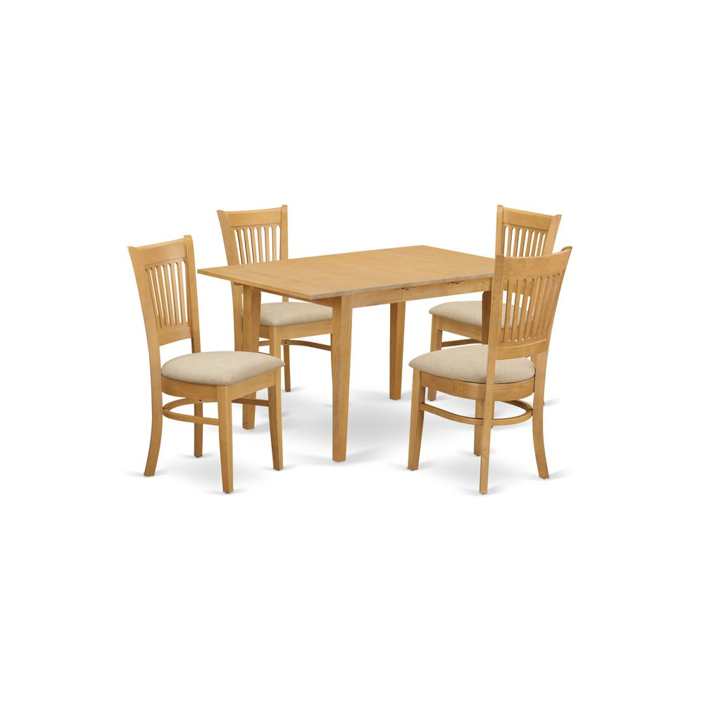Modern 5pc Dining Table Set Kitchen Dinette Chairs: Kitchen Dinette Table And 4