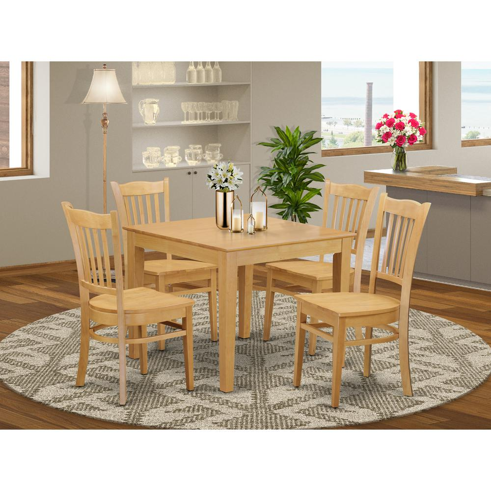 Oak Small Kitchen Table And 4 Chairs Dining Set: Kitchen Dinette Table And 4