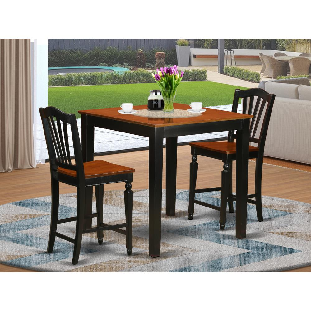Pub Dining Room Set: 3 Pc Counter Height Dining Room Set-pub Table And 2