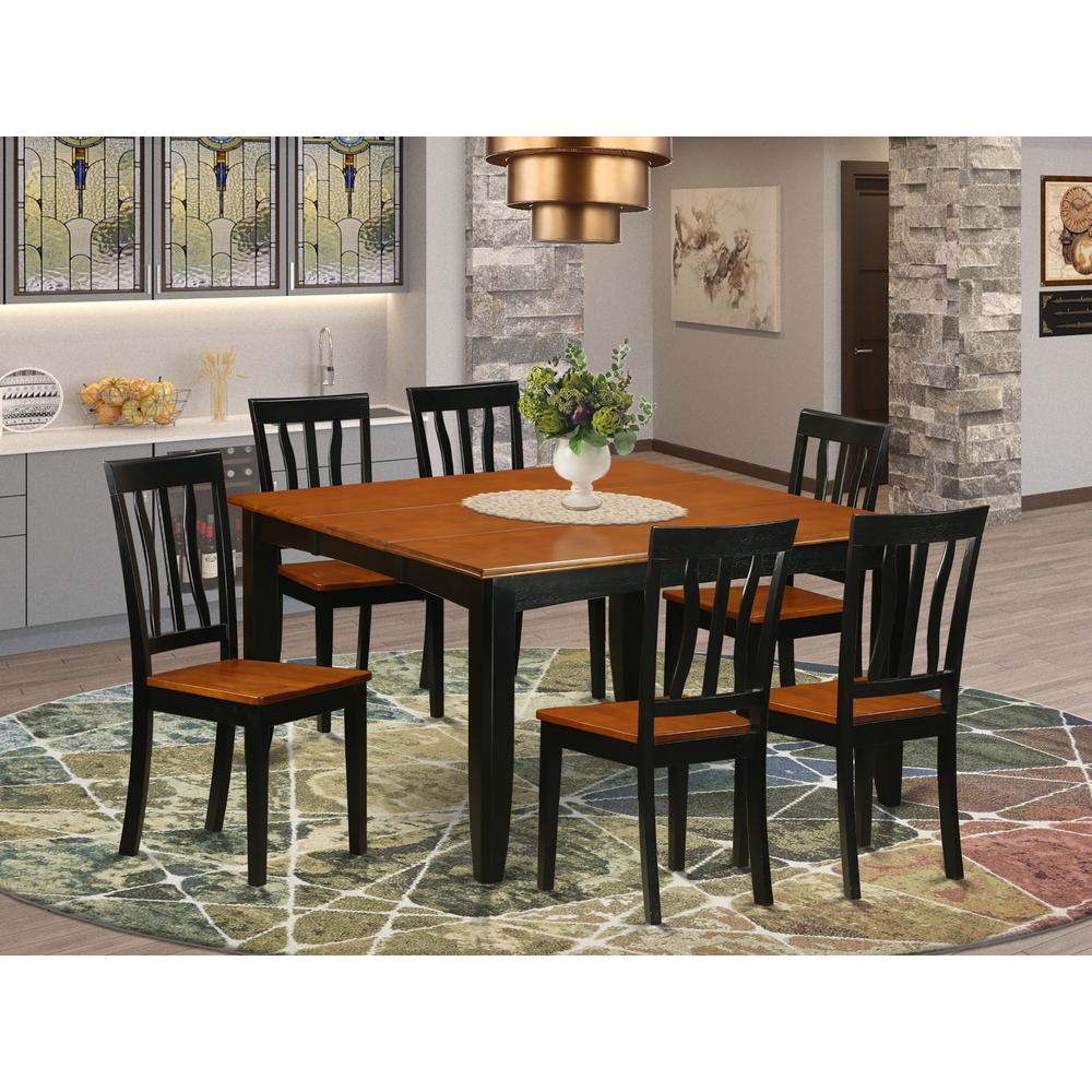7 pc dining room set 7 pc dining room set dining table and 6 wooden dining chairs 22867