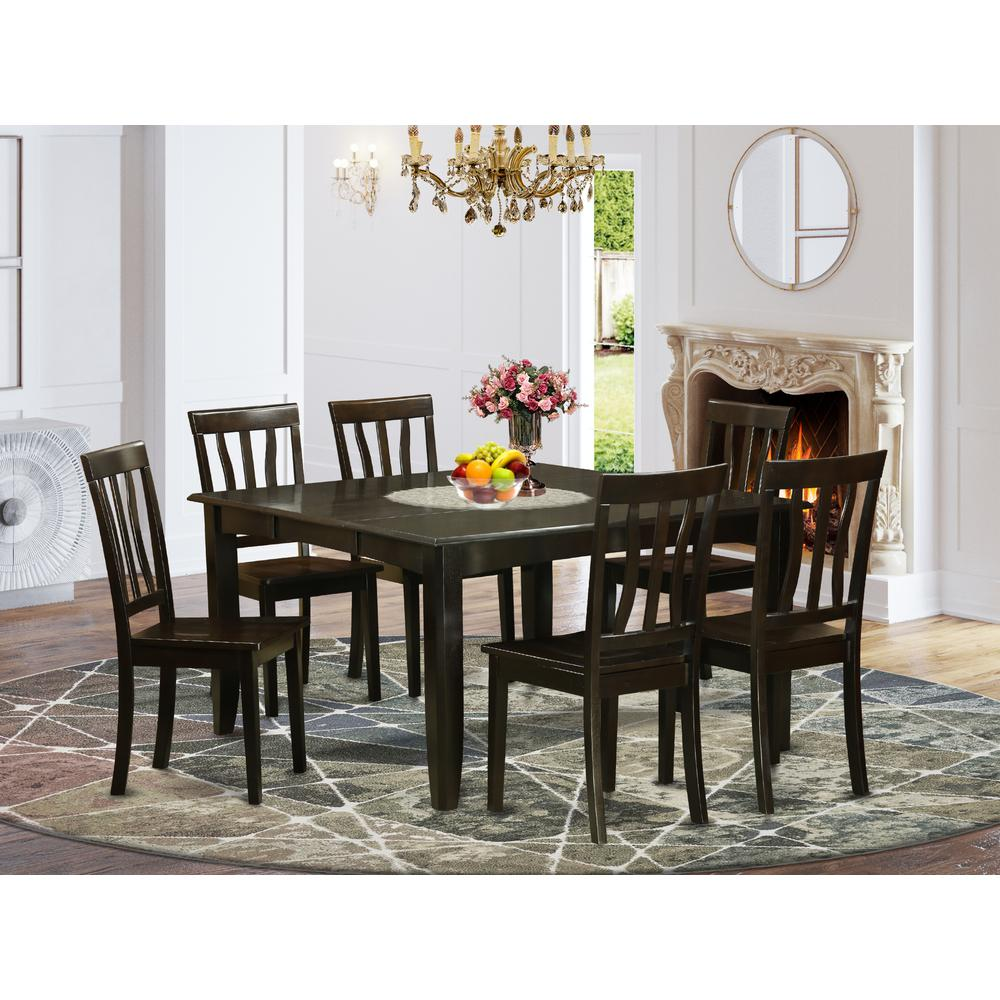 52 Kitchen Tables And Chairs Sets 7 Pc Dining Room: 7 Pc Dining Room Set-Dinette Table With Leaf And 6 Dinette