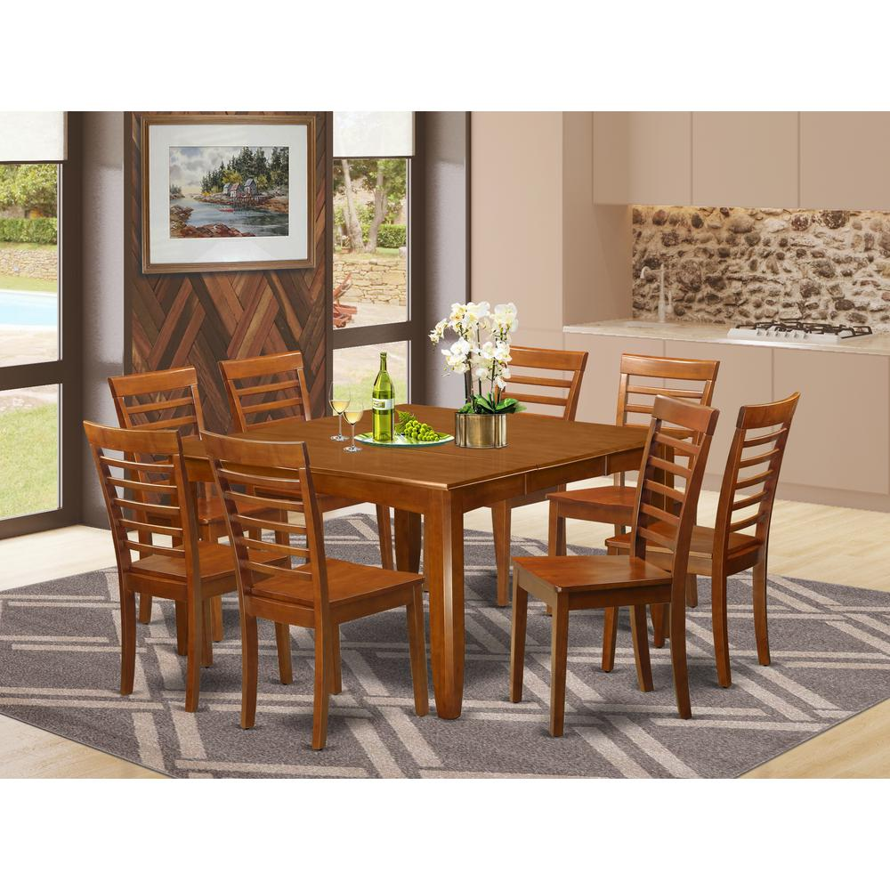 9 pc formal dining room set kitchen table with leaf and 8 for 8 pc kitchen set