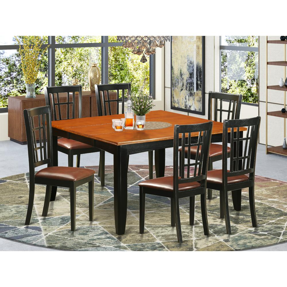 52 Kitchen Tables And Chairs Sets 7 Pc Dining Room: 7 PC Dining Room Set-Dining Table And 6 Wooden Dining Chairs
