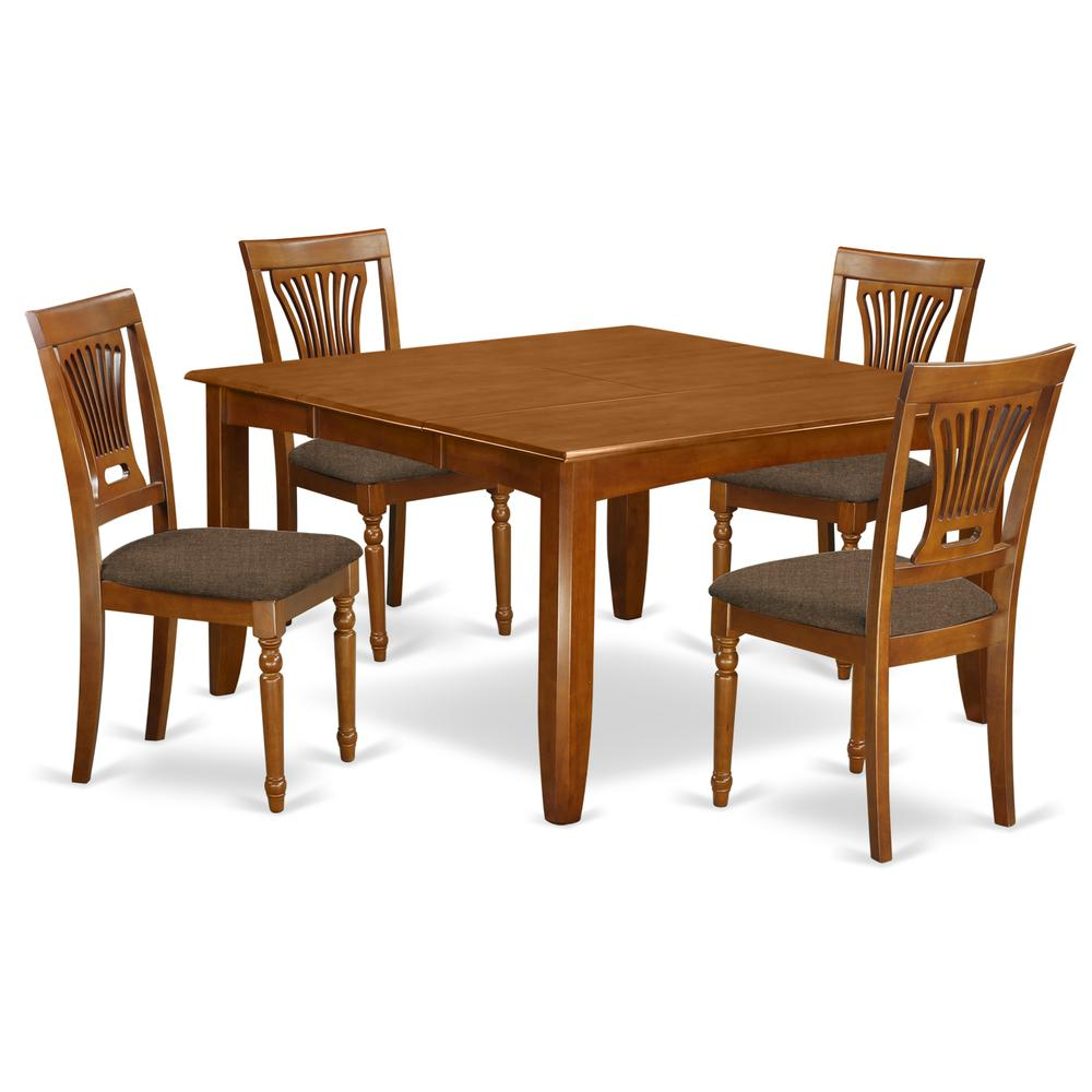 5 pc dining room set square table with leaf and 4 dining for Hgg 5pc drop leaf kitchen dining table set