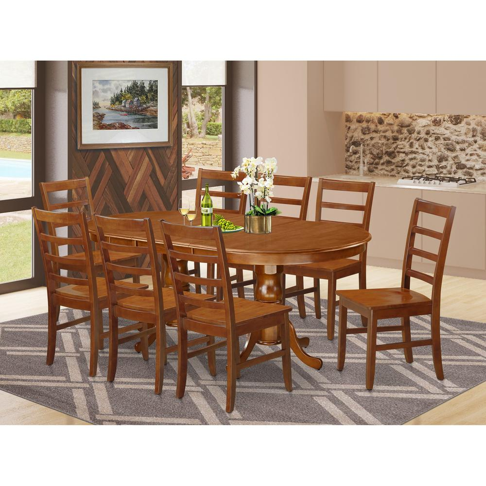 9 Pcs Dining Room Set: 9 Pc Dining Room Set-Dining Table And 8 Dining Chairs