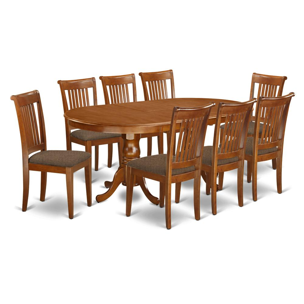 9 Pc Dining Room Set Table Plus
