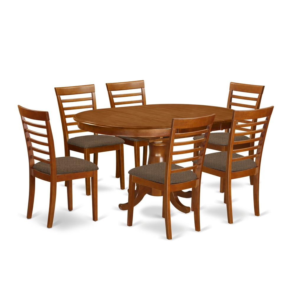 7 Pc Dining Room Sets: 7 PC Dining Room Set For 6-Oval Dining Table With Leaf