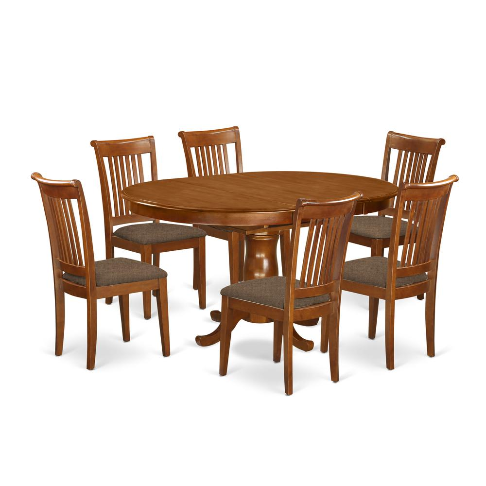 52 Kitchen Tables And Chairs Sets 7 Pc Dining Room: 7 PC Dining Room Set-Oval Dining Table With Leaf And 6