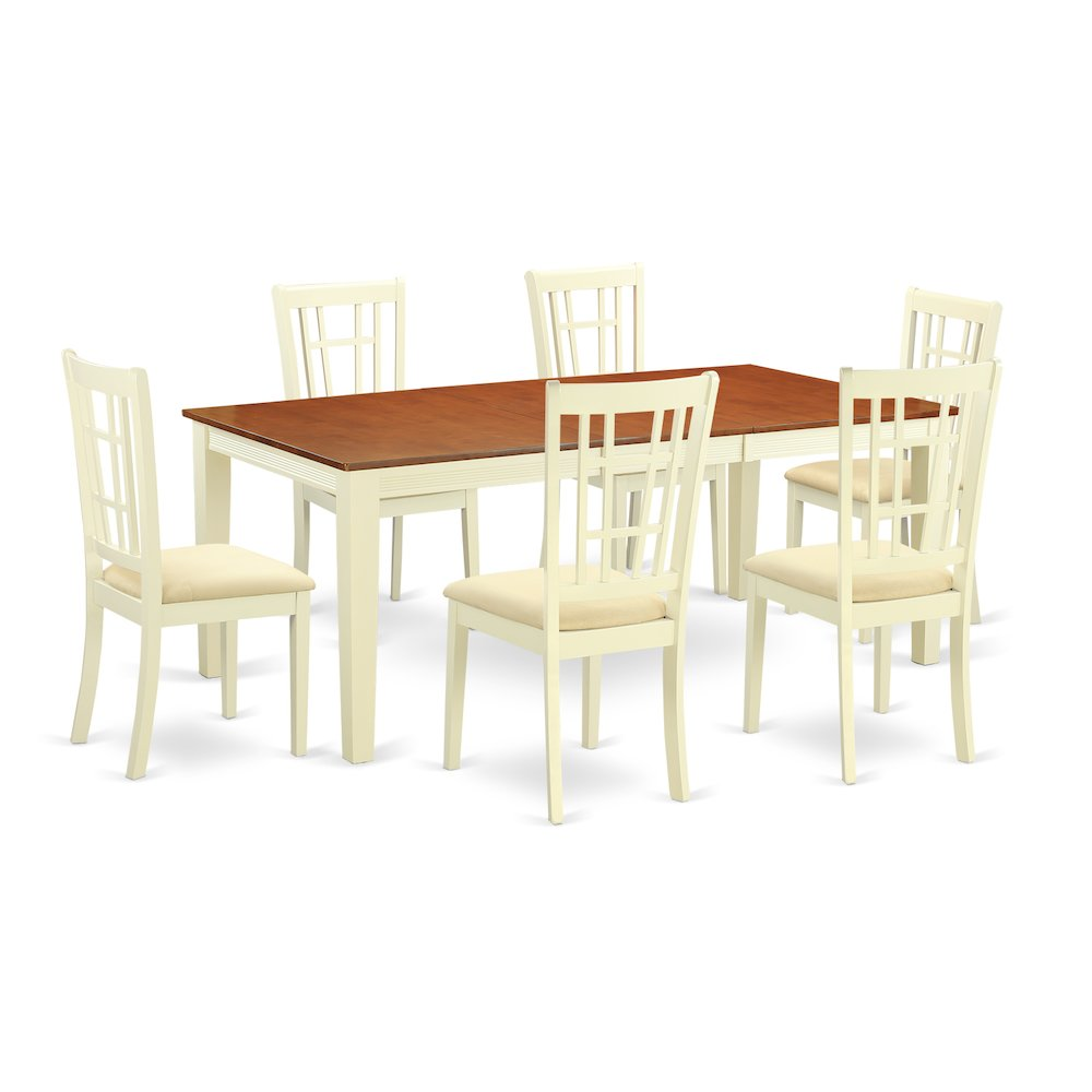 Kitchen Dinette Table And 6 Dining Chairs