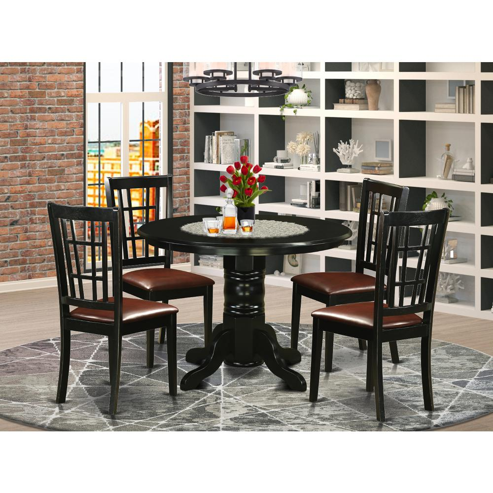 5 Pcsmall Kitchen Table set for 4-Dining Table and 4 ...