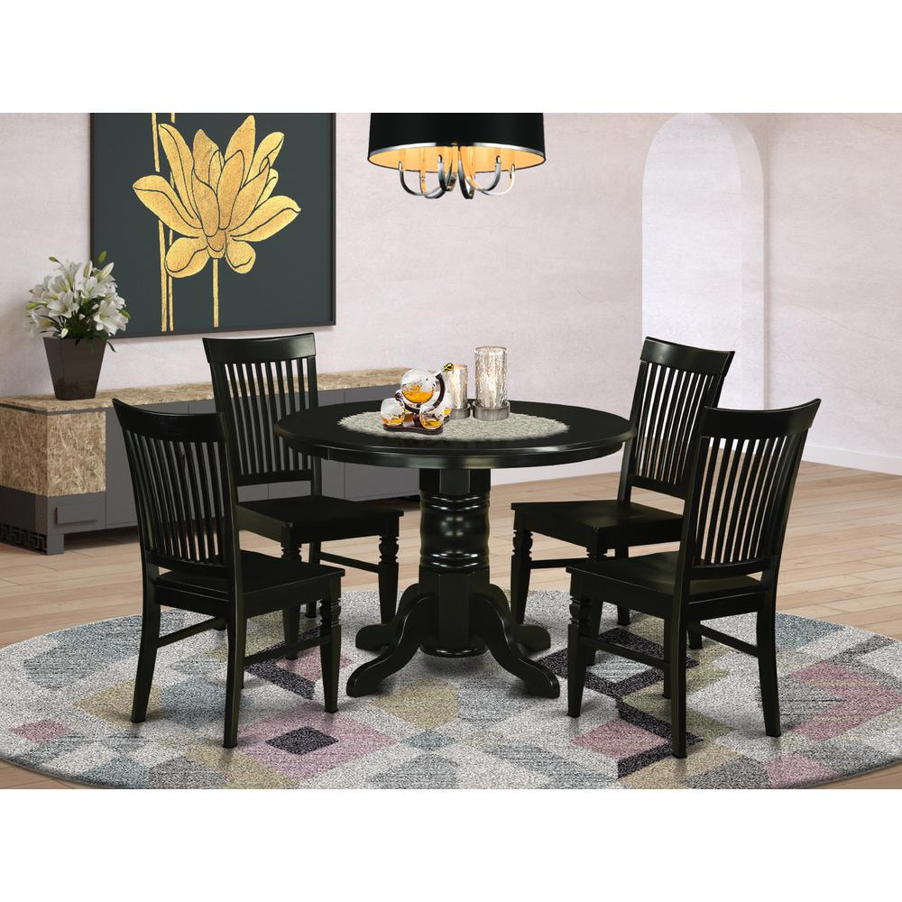 5 pc small kitchen table set kitchen table and 4 dinette for Kitchen table set 4