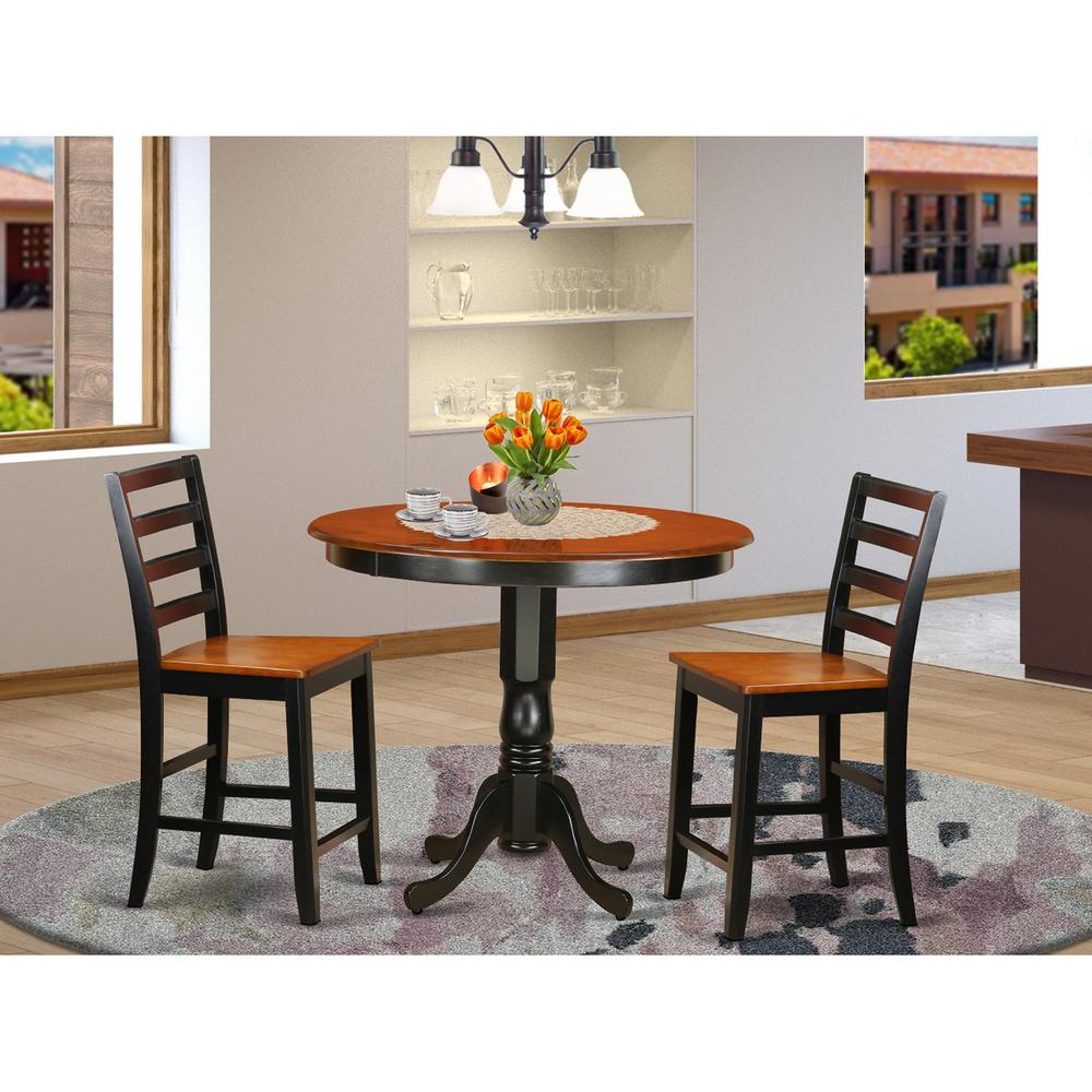 3  PC  counter  height  Dining  set  -  high  Table  and  2  Dining  Chairs.. Picture 1
