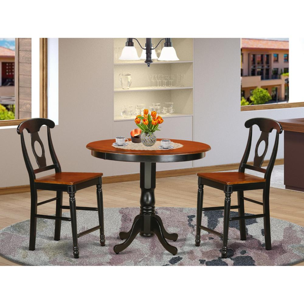 3  Pc  pub  Table  set  -  Small  Kitchen  Table  and  2  counter  height  stool.. Picture 1