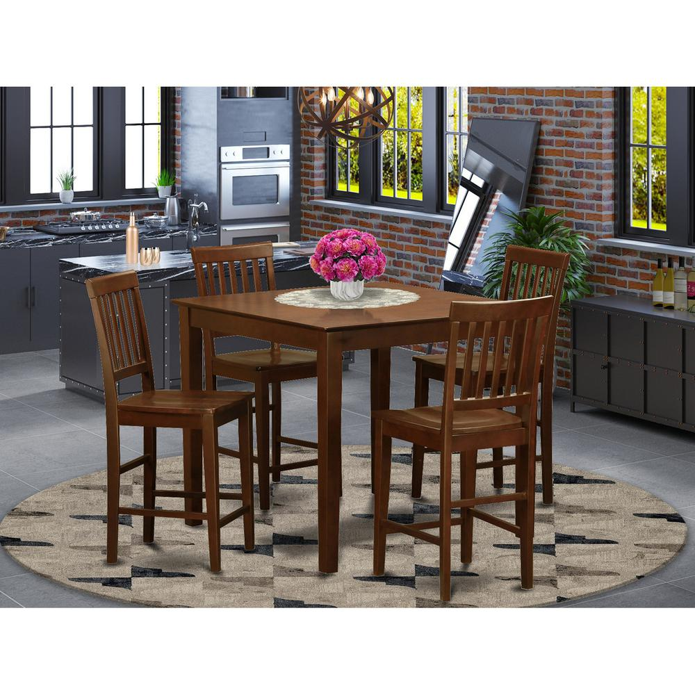 5  Pc  pub  Table  set-counter  height  Table  and  4  Kitchen  Chairs.. Picture 1