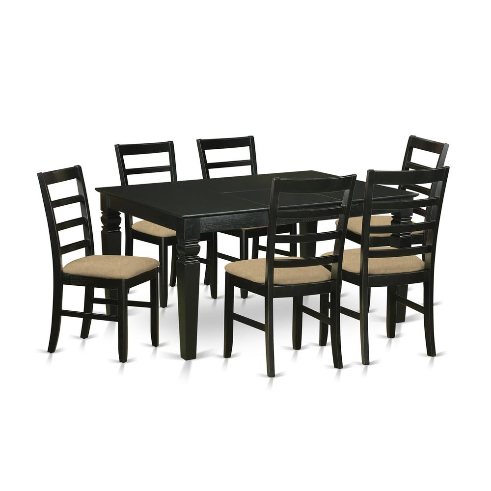 7 Pc dinette set for 6-Dining Table and 6 dinette Chairs